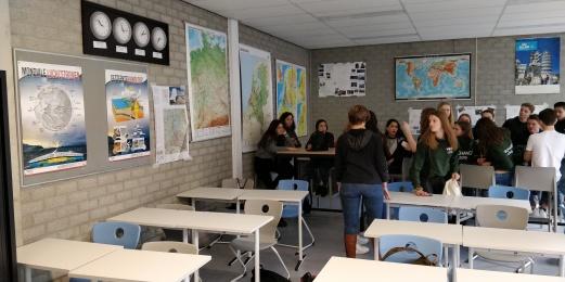 aula de geografía